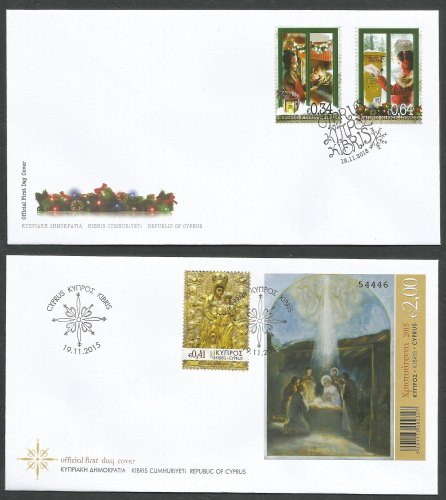 Cyprus Stamps SG 2015 (L) Christmas - Official FDC