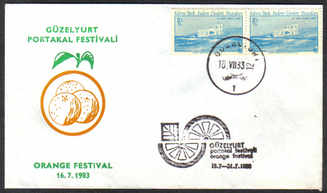 North Cyprus Stamps 1983 Orange festival Slogan Cachet - Unofficial Cover (