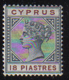 Cyprus Stamps SG 048 1894 18 piastres - MLH (c661)