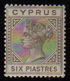 Cyprus Stamps SG 021 1883  Six Piastres - MLH (c633)