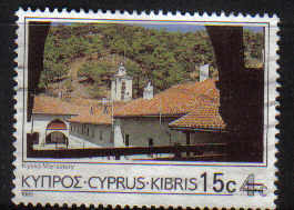 Cyprus Stamps SG 730 1988 15c/4c Surcharge - USED (c324)