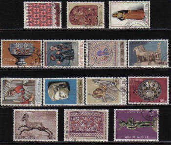 Cyprus Stamps SG 358-71 1971 3rd Definitives - USED (c723)