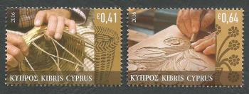 Cyprus Stamps SG 1388-89 2016 Traditional Cypriot Popular Crafts - MINT