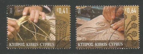Cyprus Stamps SG 2016 (a) Traditional Cypriot Popular Crafts - USED (k299)