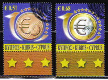 Cyprus Stamps SG 1182-83 2009 10th Anniversary of the Euro - USED (a744)