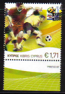 Cyprus Stamps SG 1218 2010 Fifa World Cup Football - CTO USED (c393)