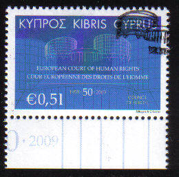 Cyprus Stamps SG 1206 2009 European Courts of Human Rights - USED (c744)