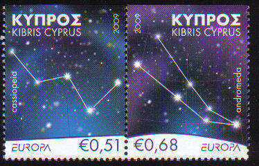 Cyprus Stamps SG 1188-89 2009 Europa Astronomy Booklet Top Set - MINT (c750