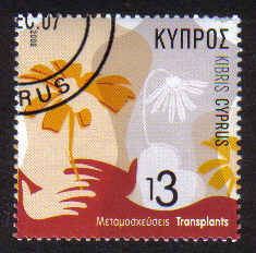 Cyprus Stamps SG 1115 2006 Transplants - USED (b540)