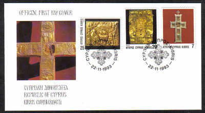Cyprus Stamps SG 844-46 1993 Christmas Official - FDC
