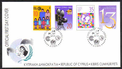 Cyprus Stamps SG 900-03 1996 Anniversaries and events Official - FDC