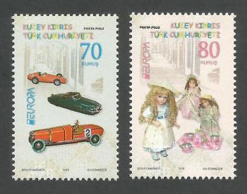 North Cyprus Stamps SG 0796-97 2015 Europa Old Toys - MINT