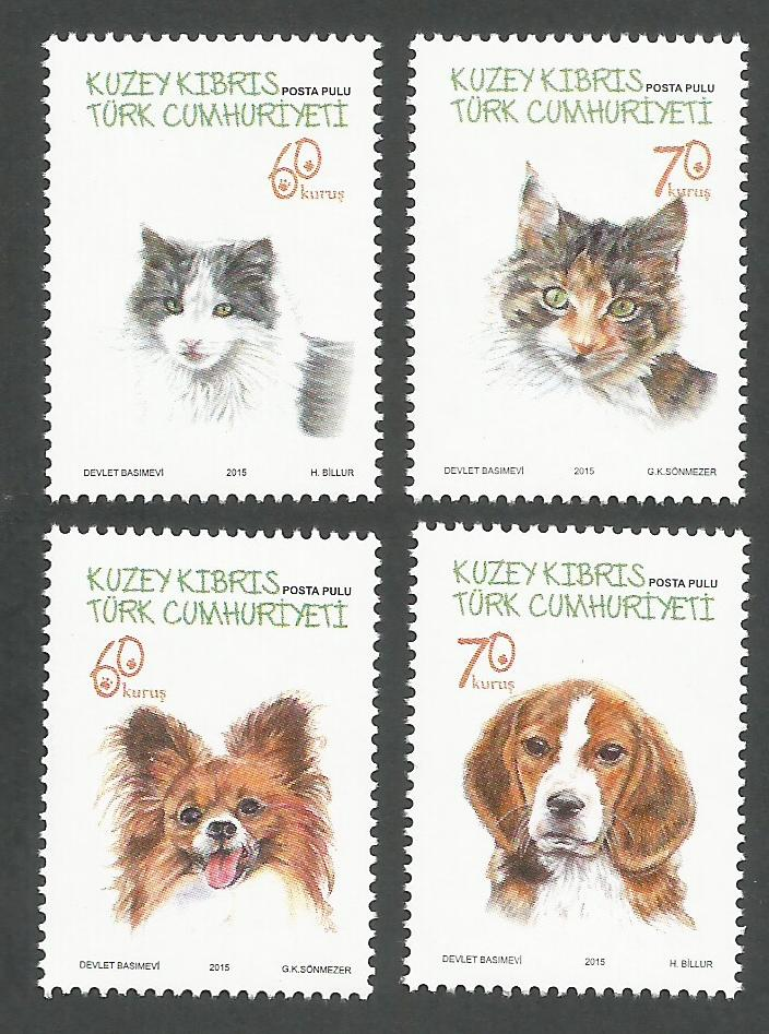 North Cyprus Stamps SG 2015 (f) Cats and Dogs - MINT