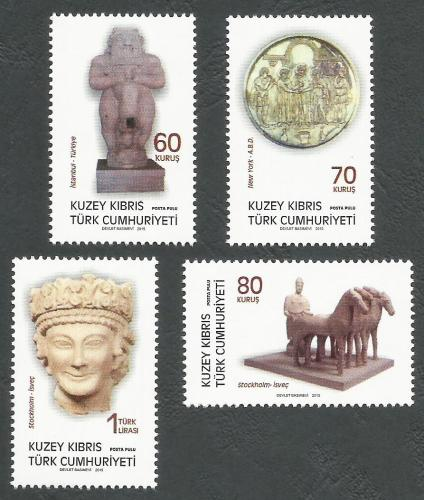 North Cyprus Stamps SG 2015 (g) Archeological Artifacts in world museums -