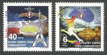 North Cyprus Stamps SG 2016 (a) UEFA Football Championship France - MINT