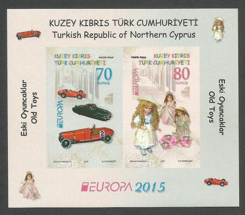 North Cyprus Stamps SG 2015 (e) Europa Old Toys - Mini sheet MINT