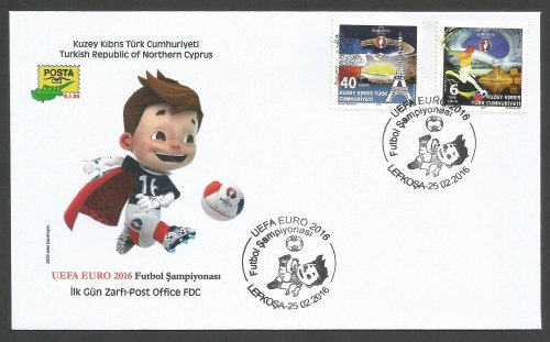 North Cyprus Stamps SG 2016 (a) UEFA Football Championship France - Officia