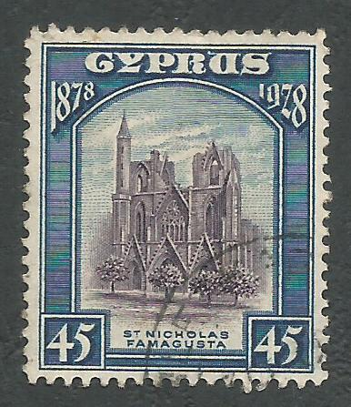 Cyprus Stamps SG 131 1928 45 Piastres - USED (k306)