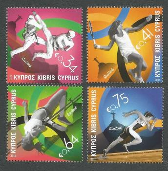 Cyprus Stamps SG 1390-93 2016 Rio Brazil Olympic Games - MINT
