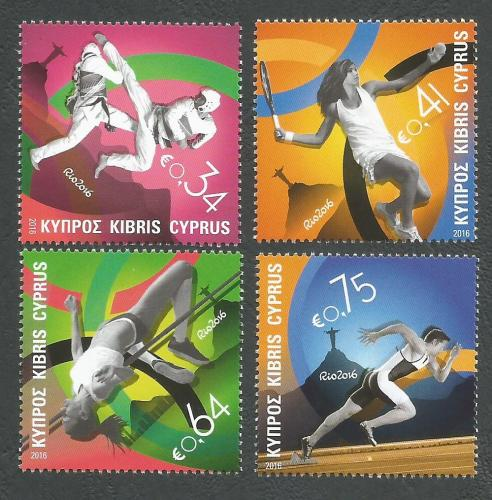 Cyprus Stamps SG 2016 (b) Rio Brazil Olympic Games - MINT