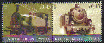 Cyprus Stamps SG 1222-23 2010 The Cyprus Railway (version 2) - MINT