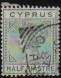 Cyprus Stamps SG 016a 1882 Half Piastre - Used (c816)