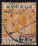 Cyprus Stamps SG 107 1924  1 1/2 Piastres - USED (c812)