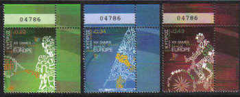 Cyprus Stamps SG 1190-92 2009 XIII Games of the Small States of Europe Control Numbers - MINT