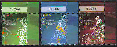 Cyprus Stamps SG 1190-92 2009 XIII Games of the Small States of Europe Cont