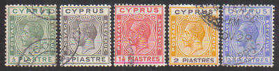 Cyprus Stamps SG 118-22 1925 Crown Colony Full set  - USED (c803)