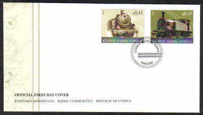 Cyprus Stamps SG 1222-23 2010 The Cyprus Railway  - Official FDC
