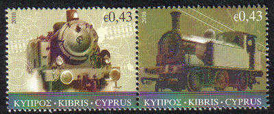 Cyprus Stamps SG 1222-23 2010 The Cyprus Railway (version 1) - MINT