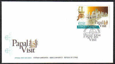 Cyprus Stamps SG 1221 2010 Pope Benedict XVI Visit to Cyprus - Official FDC