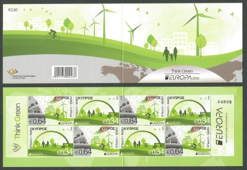 Cyprus Stamps SG 2016 (c) Europa Think Green - Booklet MINT