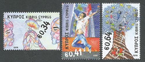 Cyprus Stamps SG 2016 (d) Principles and Values Of The European Union - MIN