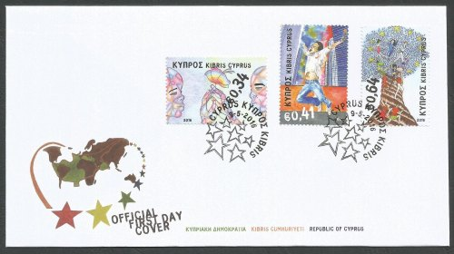 Cyprus Stamps SG 2016 (d) Principles and Values Of The European Union - Off