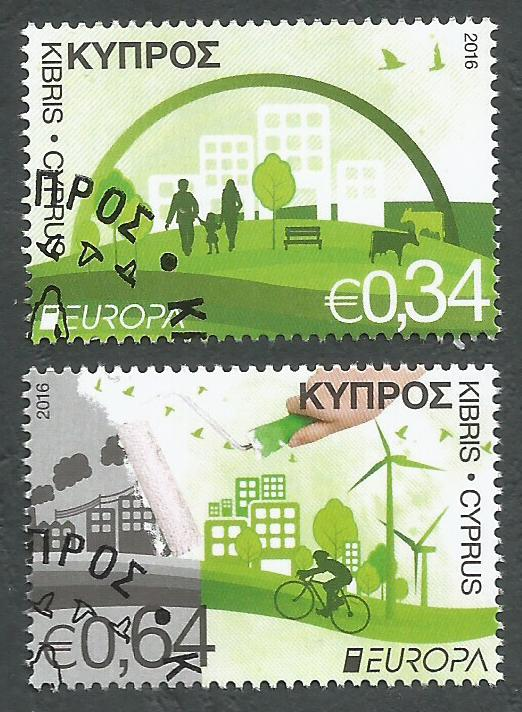 Cyprus Stamps SG 2016 (c) Europa Think Green - CTO USED (k312)