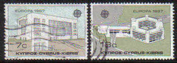 Cyprus Stamps SG 704-05 1987 Europa Modern Architecture - USED (c869)