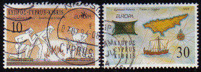 Cyprus Stamps SG 847-48 1994 Europa - USED (c861)