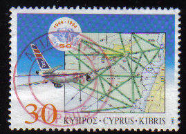 Cyprus Stamps SG 859 1994 50th Anniversary of the Civil Aviation organization - USED (c863)