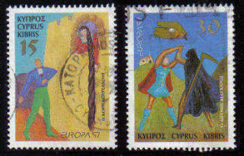 Cyprus Stamps SG 924-25 1997 Europa - USED (c866)