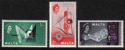 Malta Stamps SG 0286-88 1958 Technical Education in Malta - MINT