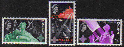 Malta Stamps SG 0289-91 1958 George Cross commemoration - MINT