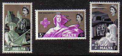 Malta Stamps SG 0292-94 1959 George Cross commemoration - MINT