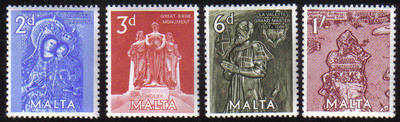 Malta Stamps SG 0307-10 1962 Anniversary of the great siege - MINT
