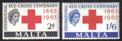 Malta Stamps SG 0312-13 1963 Red Cross - MINT
