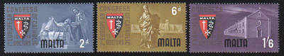 Malta Stamps SG 0318-20 1964 First European Catholic doctors congress - MIN