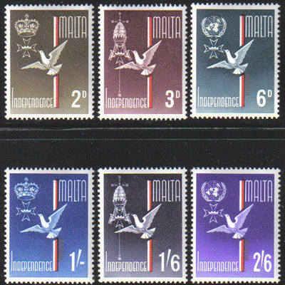 Malta Stamps SG 0321-26 1964 Independence - MINT