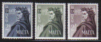 Malta Stamps SG 0349-51 1965 700th Birth centenary of Dante - MINT