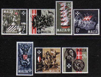 Malta Stamps SG 0352-58 1965 Anniversary of the great siege - MINT
